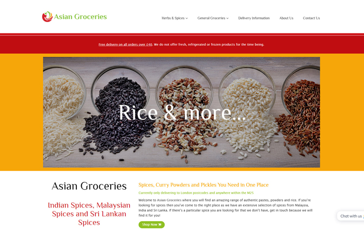 Website Design for Asian Groceries | Shop Asian Spices and Cooking Ingredients