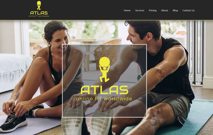 Website Design for ATLAS Online Personal Trainer | UK and Worldwide