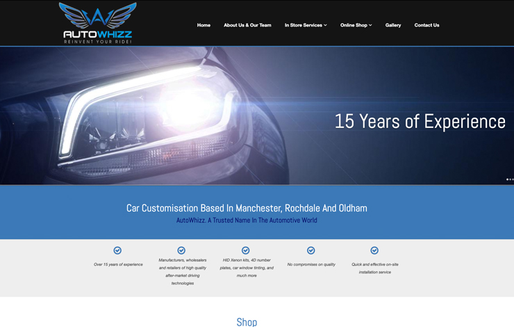 Website Design for Autowhizz | Car Customisation Based In Manchester