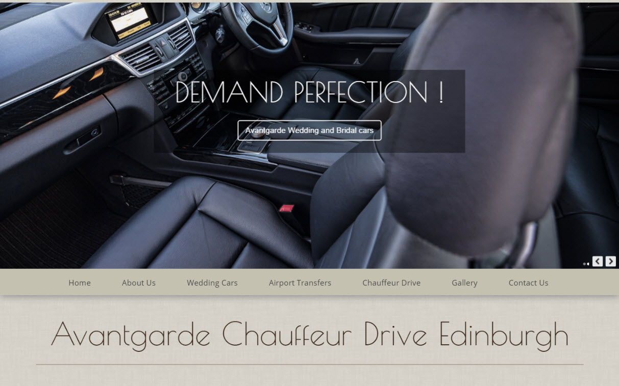 Executive Corporate Chauffeur Services Edinburgh Midlothian