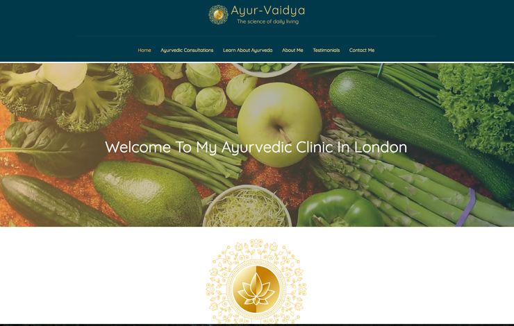 Website Design for Ayurvedic clinic in London and Kent | Ayur-Vaidya