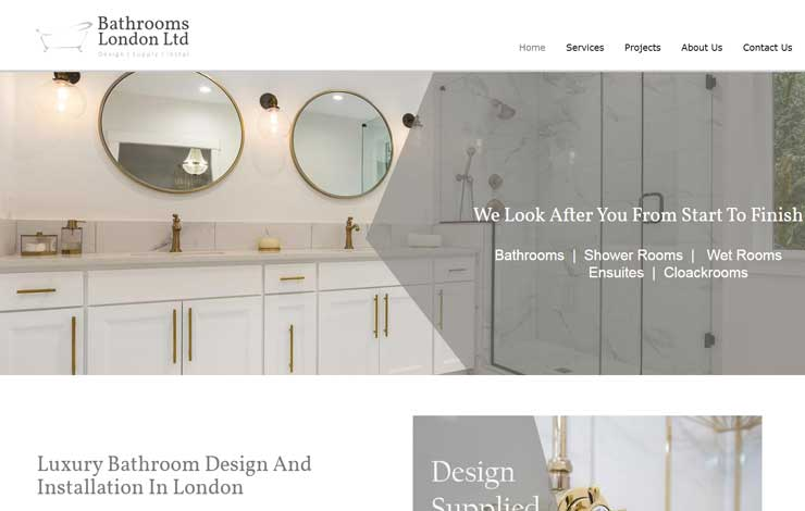 Website Design for Bathroom Design and Installation in London | Bathrooms London