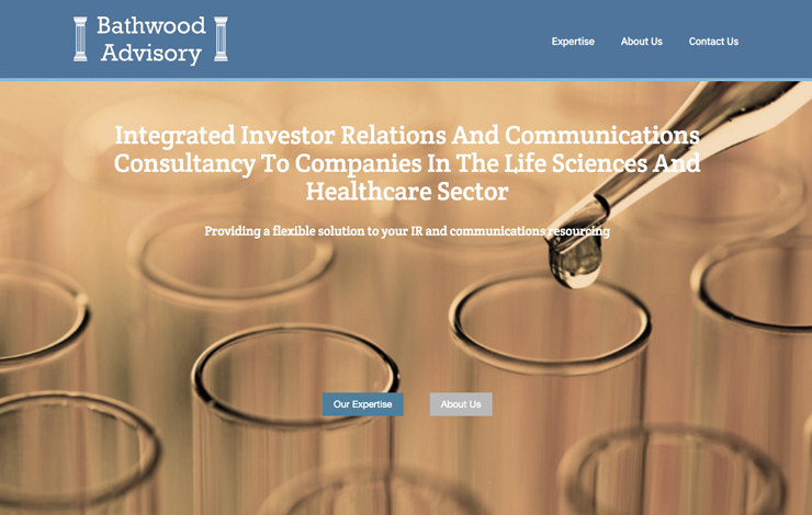 Website Design for Integrated investor relations and communications | Bathwood Advisory