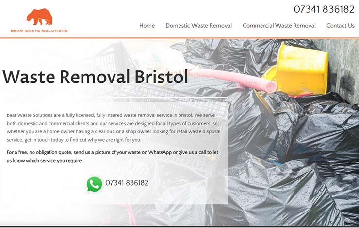 Waste Removal Bristol | Bear Waste Solutions