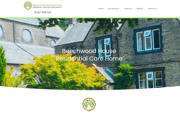 Website Design for Learning disability care home in Derbyshire | Beechwood House