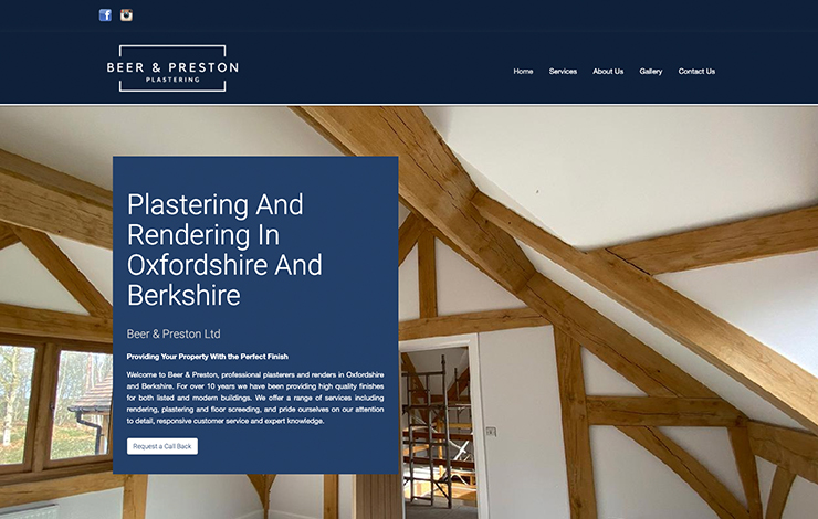 Plastering And Rendering in Oxfordshire | Beer and Preston