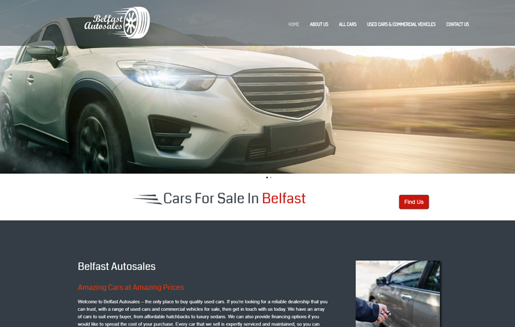 Website Design for Cars for Sale in Belfast | Belfast Autosales.