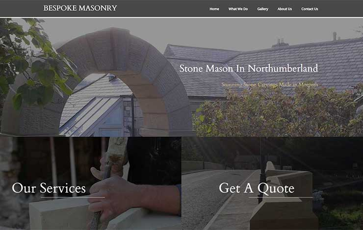 Website Design for Stone Mason In Northumberland | Bespoke Masonry