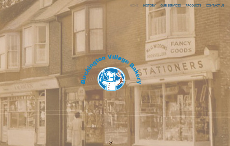 Website Design for Bakery in Birchington | Birchington Village Bakery