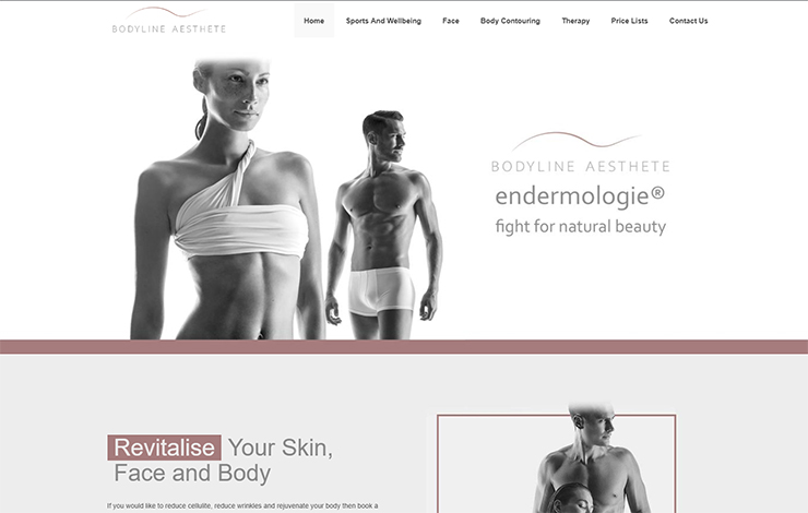 Website Design for Lipo Massage in London | Bodyline Aesthete