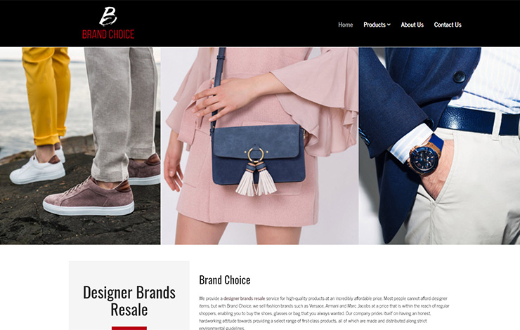 Website Design for Designer brands resale | Brand Choice