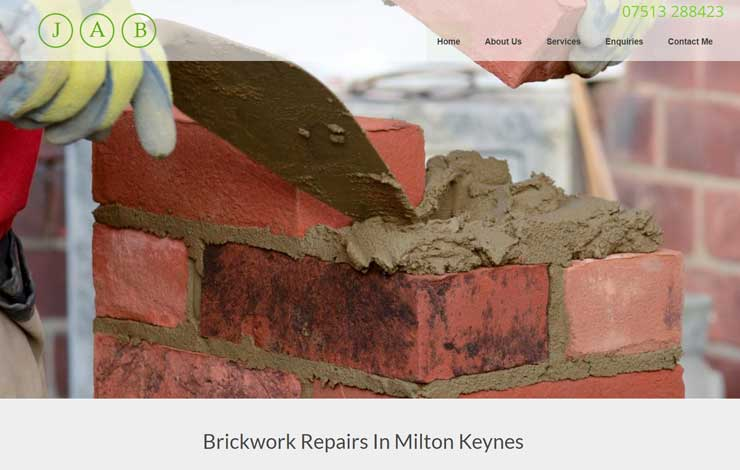 Website Design for Brickwork Repairs in Milton Keynes | JAB
