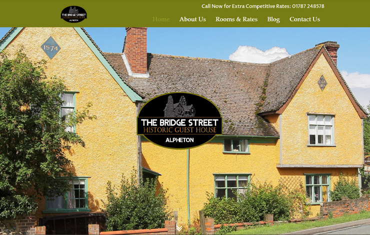 Website Design for Bed and Breakfast in Suffolk | The Bridge Street Historic Guest House