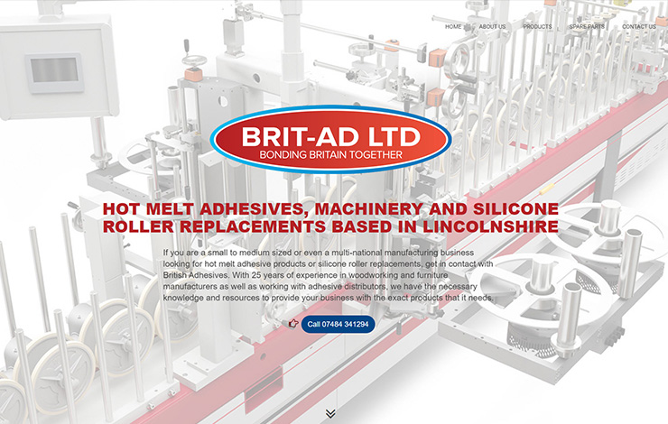 Website Design for Silicone roller replacements and hot melt adhesive | British Adhesives Ltd