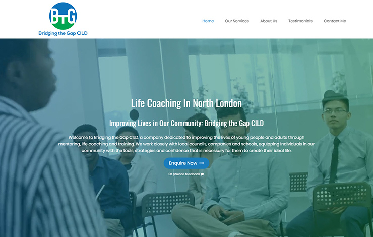 Website Design for Life coaching in Barnet | Bridging the Gap