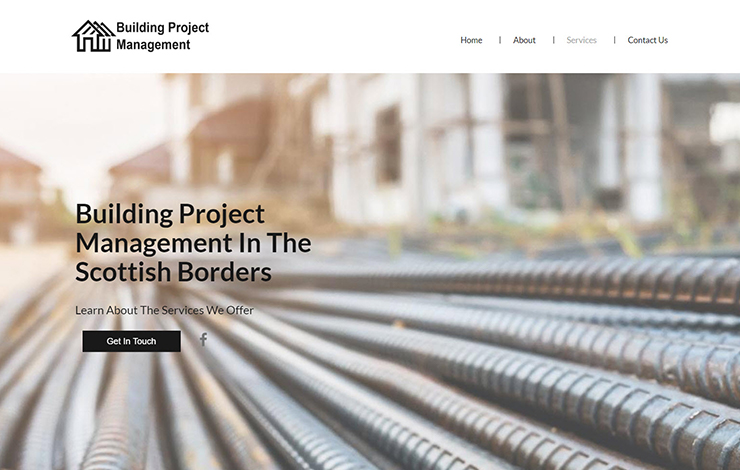 Website Design for Building Project Management | Scottish Borders