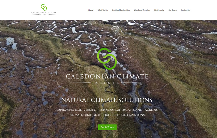 Website Design for Natural climate solutions | Caledonian Climate Partners | Home