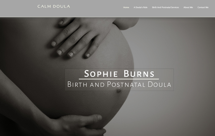 Website Design for Birth and Postnatal Doula in Buckinghamshire