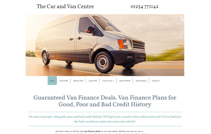 Guaranteed van finance. All credit accepted.
