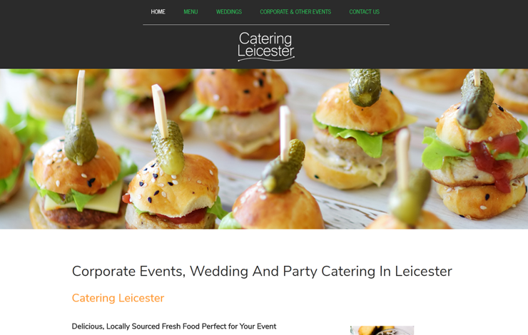Website Design for Catering in Leicester | Catering Leicester