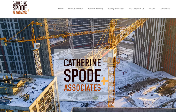 Website Design for Property Development Finance | Catherine Spode and Associates