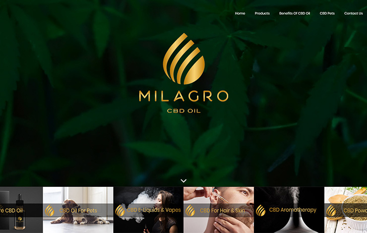 Website Design for Milagro CBD Oil Surrey