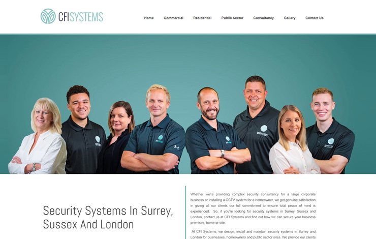 Website Design for CFI Systems | Security Systems in Surrey and London