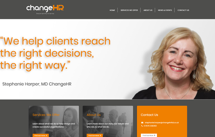 Website Design for HR Consultancy helping clients do the right things | ChangeHR
