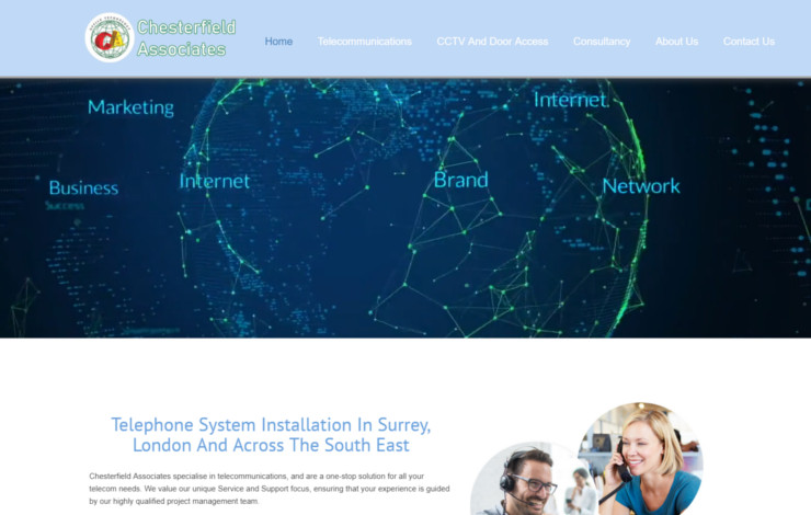 Website Design for Telecommunication Installation Service in London and Surrey