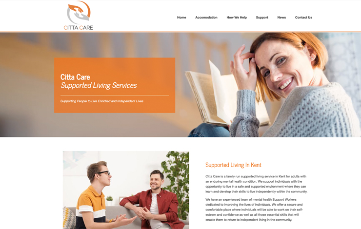 Website Design for Supported Living in Kent | Citta Care