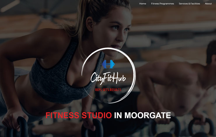 Website Design for CityFitHub | Fitness Studio for Personal Trainers in Moorgate