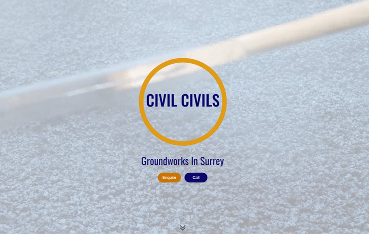 Website Design for Groundworks in Surrey | Drainage and tarmac services
