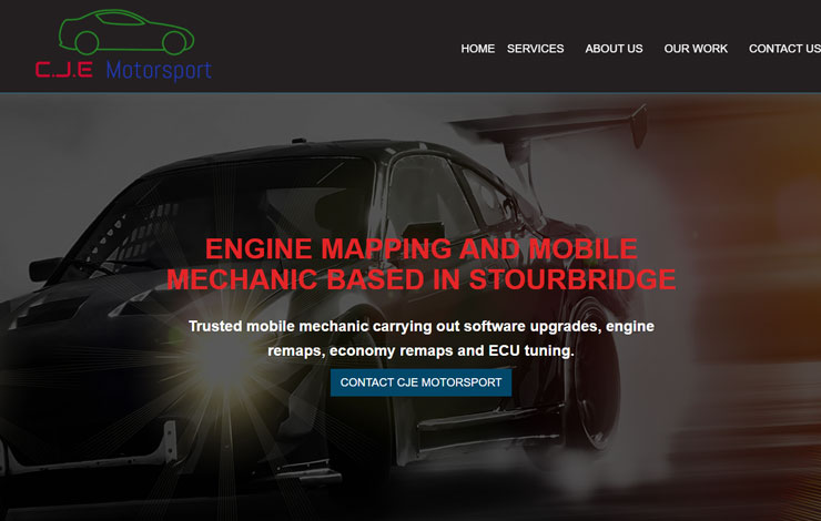 Website Design for Engine Remapping in Stourbridge | CJE Motorsport