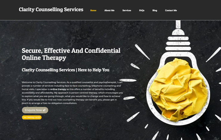 Website Design for Secure and Confidential Online Therapy