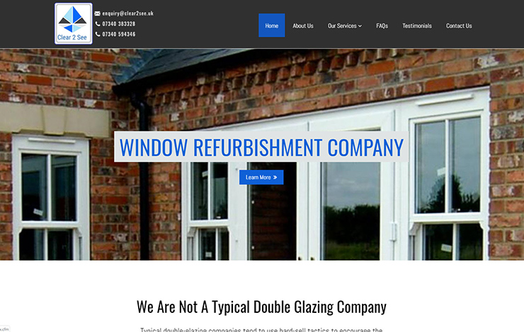 Website Design for Door and window refurbishment specialists | Clear 2 See