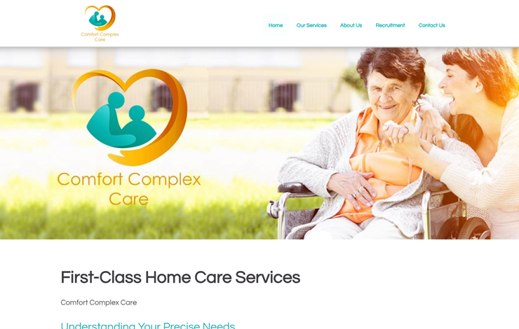 Website Design for Home Care Services in West London and Surrey | Comfort Complex Care