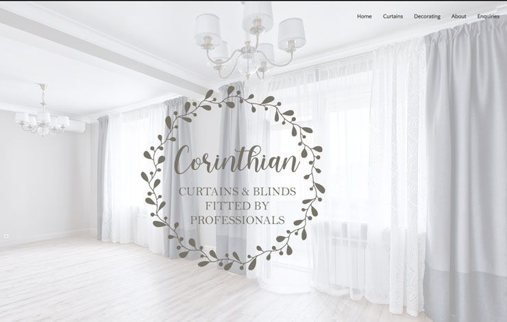 Website Design for Corinthian Curtains | Bespoke Curtain Maker in Sussex and Surrey