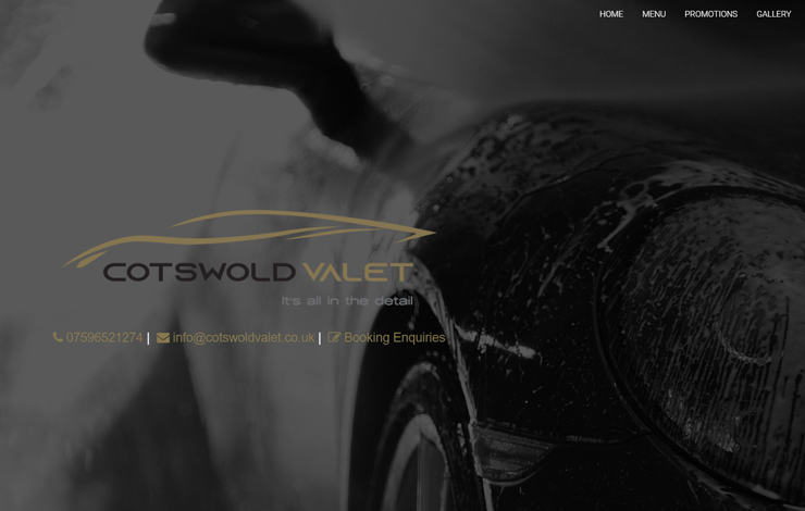 Website Design for Valet And Detailing Services | Cotswold Valet