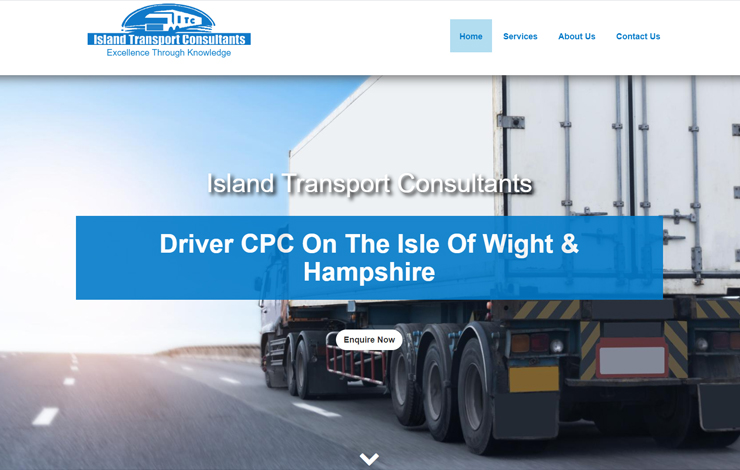 Website Design for Driver CPC On The Isle of Wight