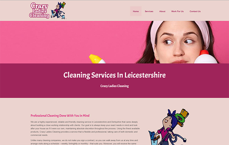 Website Design for Cleaning services in Leicestershire