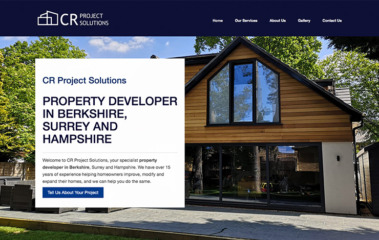 Website Design for Property developer in Berkshire | CR Project Solutions