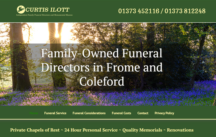 Website Design for Funeral Directors in Frome and Coleford