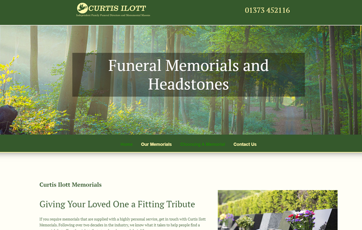 Curtis Ilott Memorials  | Quality Memorials In Granite, Marble and Stone