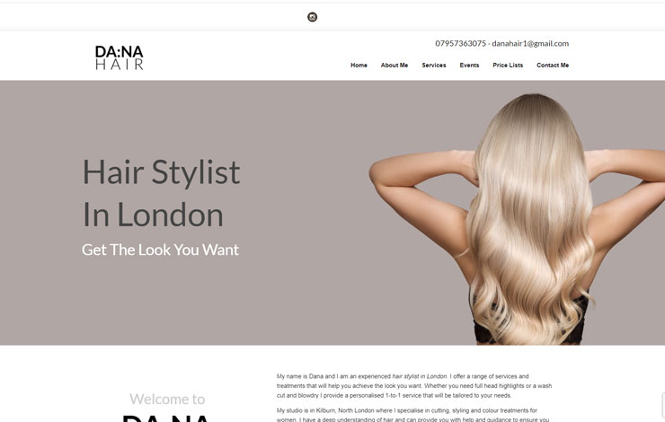 Dana Hair | Hair Stylist in London
