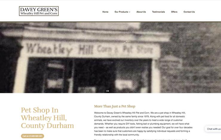 Pet shop in Wheatley Hill | Davey Green's