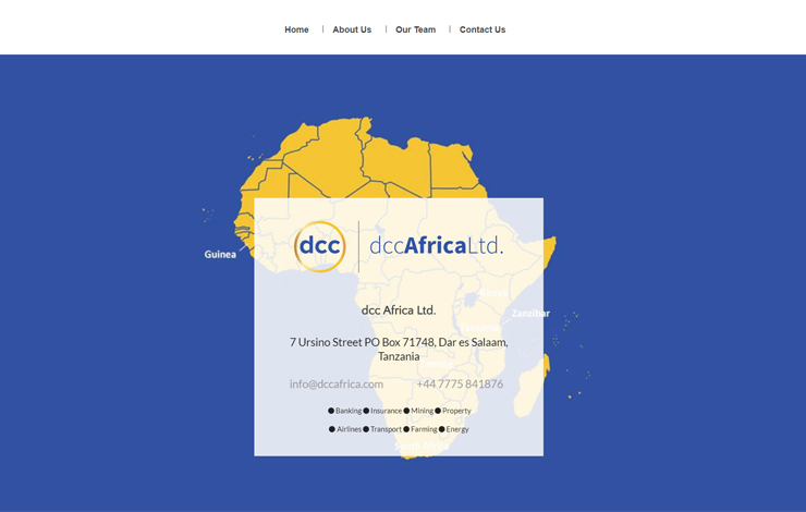 Website Design for dcc Africa Ltd. | Funding for debt instruments | Home