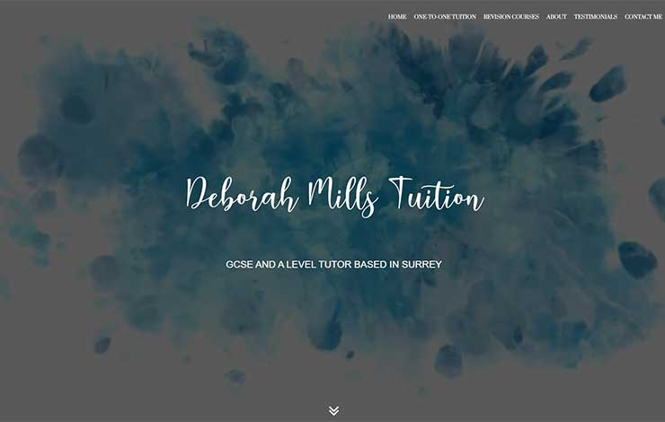 Website Design for Deborah Mills Tuition | English Tutor in Surrey