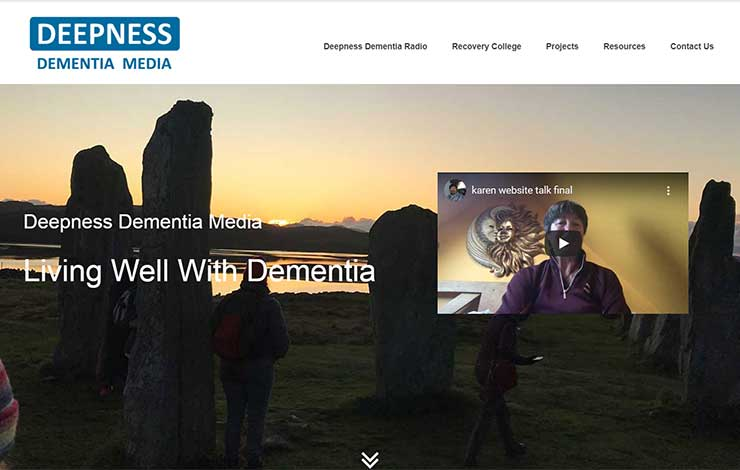 Website Design for Living Well With Dementia | Deepness Dementia Media