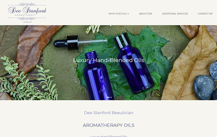 Website Design for Hand Blended Aromatherapy Oils | Dee Stanford Aromatherapy