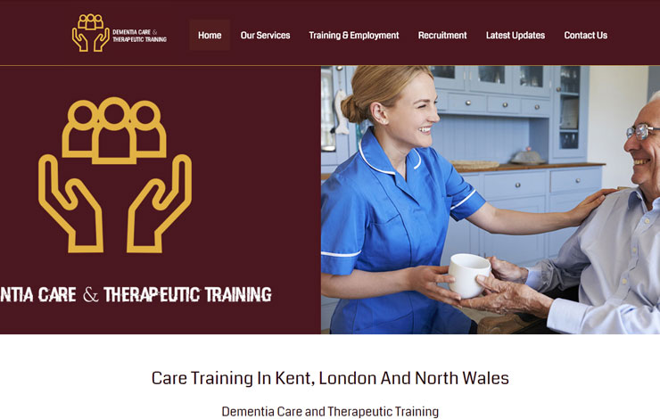 Website Design for Care Training in Kent | Dementia Care & Therapeutic Training Ltd